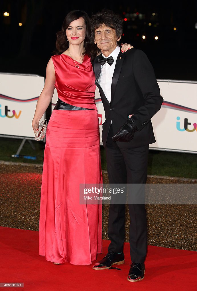 Sally Wood and Ronnie Wood attend The Sun Military Awards at National Maritime Museum on December 11, 2013 in London, England.