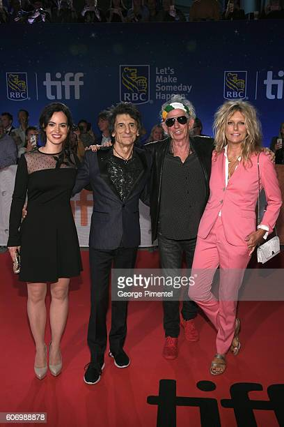 Sally Wood musicians Ronnie Wood Keith Richards and wife Patti Richards attend 'The Roling Stones Ole Ole Ole A Trip Across Latin America' Premiere...
