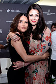 Salma Hayek and Aishwarya Rai attend the Variety Celebration of UN Women at Radisson Blu on May 16 2015 in Cannes France