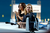 Salma Hayek and Diane Kruger seen appearing on the Le Grand Journal during the 68th Annual Cannes Film Festival on May 15 2015 in Cannes France