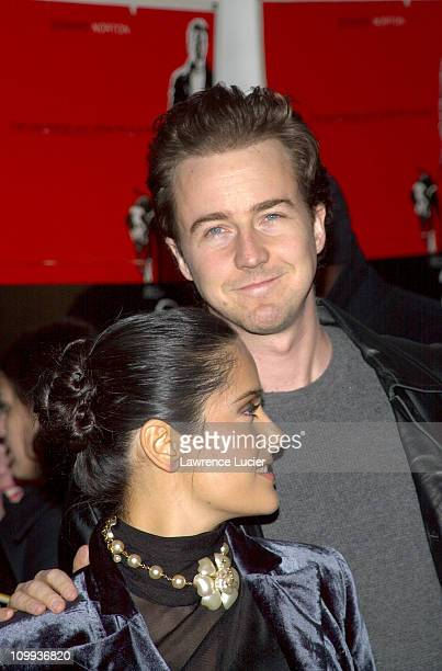 Salma Hayek and Ed Norton during 25th Hour World Premiere at Ziegfeld Theater in New York New York United States