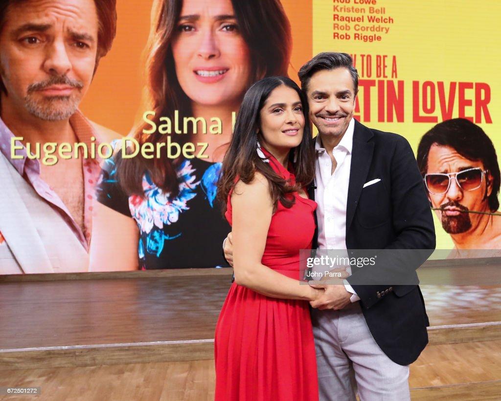 Salma Hayek And Eugenio Derbez Are Seen At Despierta America Studio To  Promote The Film '