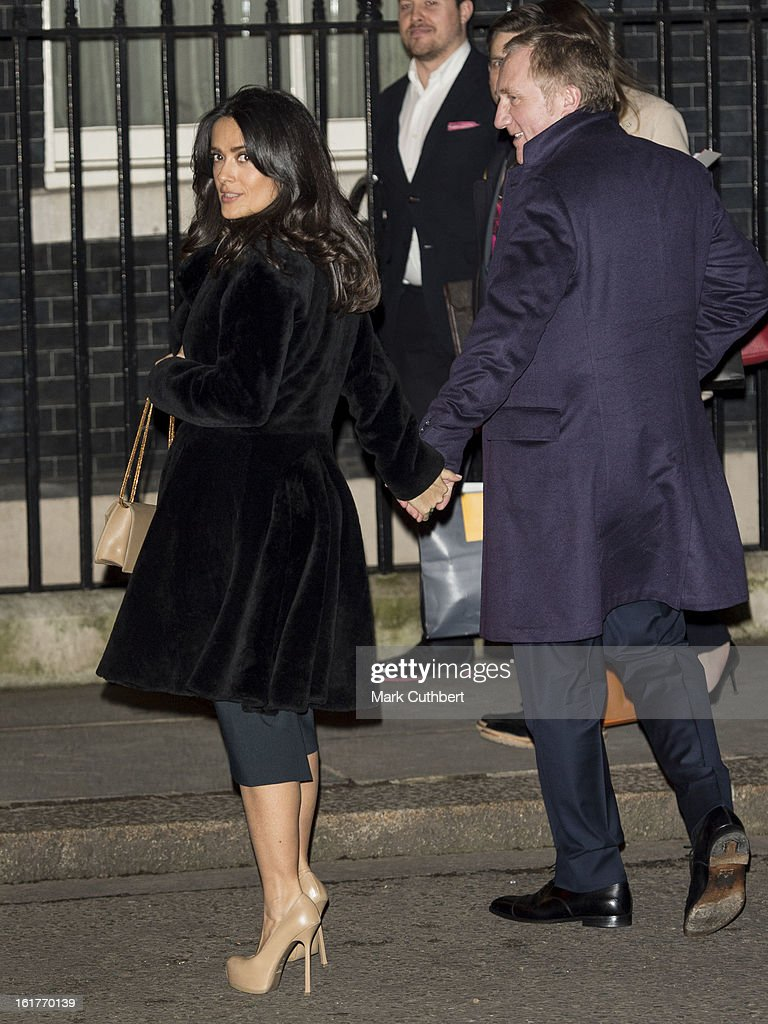 <a gi-track='captionPersonalityLinkClicked' href=/galleries/search?phrase=Salma+Hayek&family=editorial&specificpeople=201844 ng-click='$event.stopPropagation()'>Salma Hayek</a> and <a gi-track='captionPersonalityLinkClicked' href=/galleries/search?phrase=Francois-Henri+Pinault&family=editorial&specificpeople=532174 ng-click='$event.stopPropagation()'>Francois-Henri Pinault</a> at the Downing Street reception during London Fashion Week Fall/Winter 2013/14 at 10 Downing Street on February 15, 2013 in London, England.