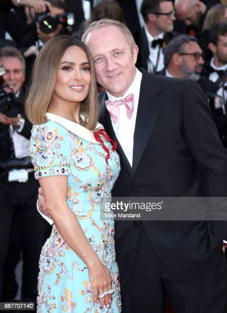 Salma Hayek and FrancoisHenri Pinault attend the 70th Anniversary screening during the 70th annual Cannes Film Festival at Palais des Festivals on...