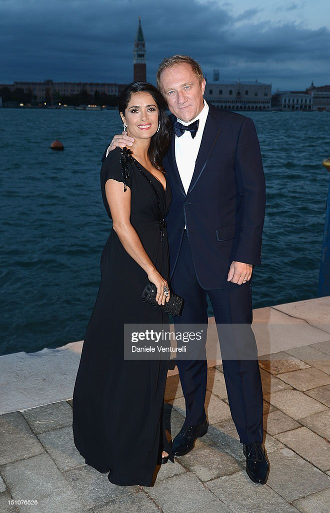 <a gi-track='captionPersonalityLinkClicked' href=/galleries/search?phrase=Salma+Hayek&family=editorial&specificpeople=201844 ng-click='$event.stopPropagation()'>Salma Hayek</a> and <a gi-track='captionPersonalityLinkClicked' href=/galleries/search?phrase=Francois-Henri+Pinault&family=editorial&specificpeople=532174 ng-click='$event.stopPropagation()'>Francois-Henri Pinault</a> attend the Gucci Award for Women in Cinema at The 69th Venice International Film Festival at Hotel Cipriani on August 31, 2012 in Venice, Italy.