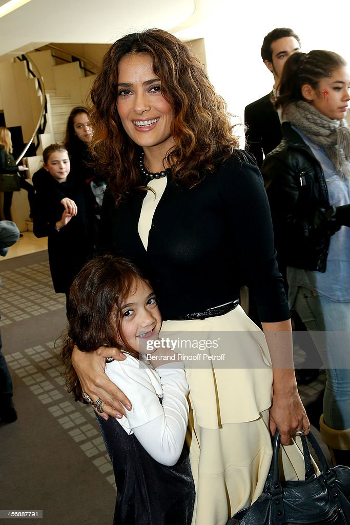 <a gi-track='captionPersonalityLinkClicked' href=/galleries/search?phrase=Salma+Hayek&family=editorial&specificpeople=201844 ng-click='$event.stopPropagation()'>Salma Hayek</a> and her daughter <a gi-track='captionPersonalityLinkClicked' href=/galleries/search?phrase=Valentina+Paloma+Pinault&family=editorial&specificpeople=5557938 ng-click='$event.stopPropagation()'>Valentina Paloma Pinault</a> attend the 'Reves d'Enfants' Arop charity event at Opera Bastille on December 15, 2013 in Paris, France.