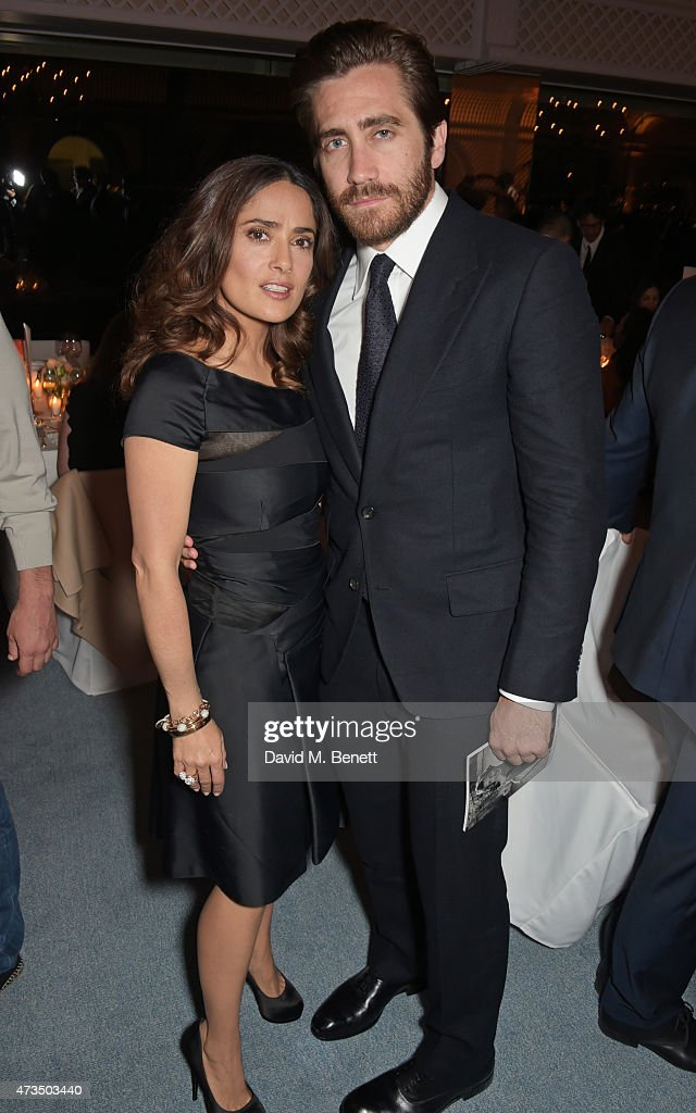 Salma Hayek and Jake Gyllenhaal attend as Charles Finch hosts his annual Filmmakers Dinner and photographic exhibition in celebration of 'The Art Of...