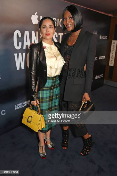 Salma Hayek and Naomi Campbell attend the London screening of 'Can't Stop Won't Stop A Bad Boy Story' presented by Apple Music at The Curzon Mayfair...