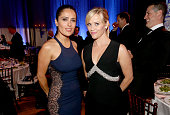 Salma Hayek and Reese Witherspoon attend the 4th Annual Sean Penn Friends HELP HAITI HOME Gala Benefiting J/P Haitian Relief Organization on January...