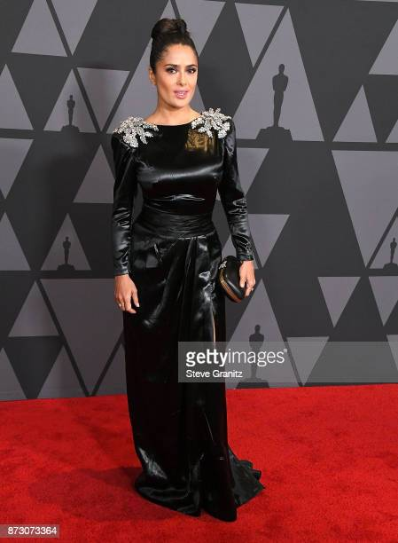 Salma Hayek arrives at the Academy Of Motion Picture Arts And Sciences' 9th Annual Governors Awards at The Ray Dolby Ballroom at Hollywood Highland...