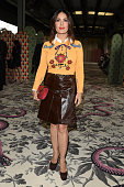 Salma Hayek arrives at the Gucci show during the Milan Fashion Week Spring/Summer 2016 on September 23 2015 in Milan Italy