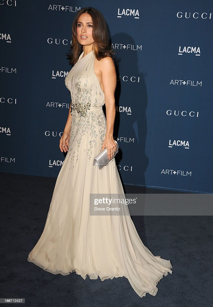 Salma Hayek arrives at the LACMA 2013 Art + Film Gala at LACMA on November 2, 2013 in Los Angeles, California.