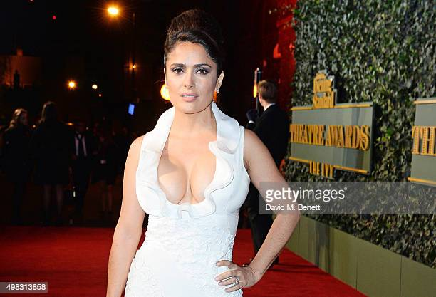 Salma Hayek arrives at The London Evening Standard Theatre Awards in partnership with The Ivy at The Old Vic Theatre on November 22 2015 in London...