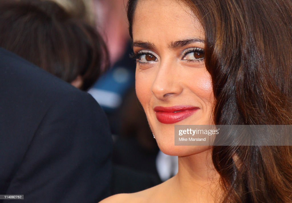 Salma Hayek arrives at the Midnight In Paris' Premiere part of the 64th Cannes Film Festival at Palais des Festivals on May 11, 2011 in Cannes, France.