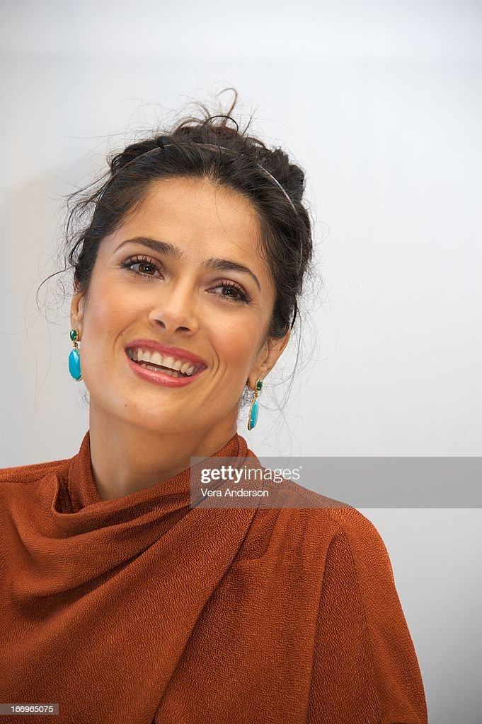 <a gi-track='captionPersonalityLinkClicked' href=/galleries/search?phrase=Salma+Hayek&family=editorial&specificpeople=201844 ng-click='$event.stopPropagation()'>Salma Hayek</a> at the 'Grown Ups 2' Press Junket on April 18, 2013 in Cancun, Mexico.