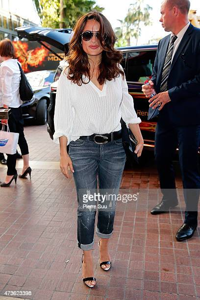 Salma Hayek at the Hotel Majestic during the 68th annual Cannes Film Festival on May 16 2015 in Cannes France
