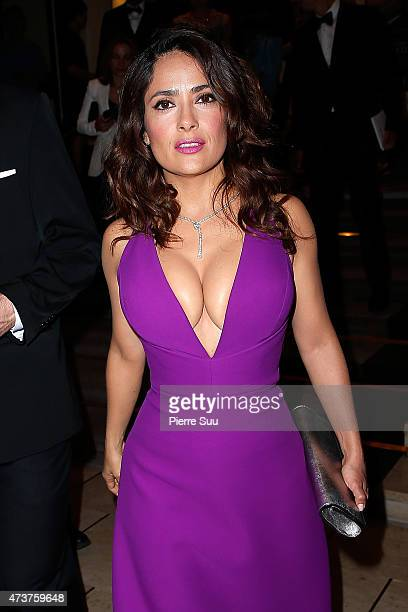 Salma Hayek at the Majestic Hotel during the 68th annual Cannes Film Festival on May 17 2015 in Cannes France