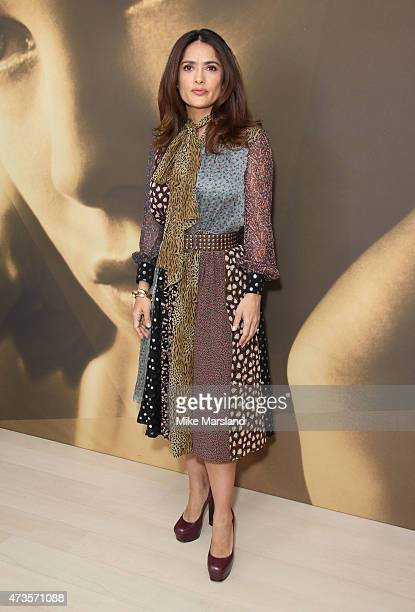 Salma Hayek attends a talk by Salma Hayek for Kering during the 68th annual Cannes Film Festival on May 16 2015 in Cannes France