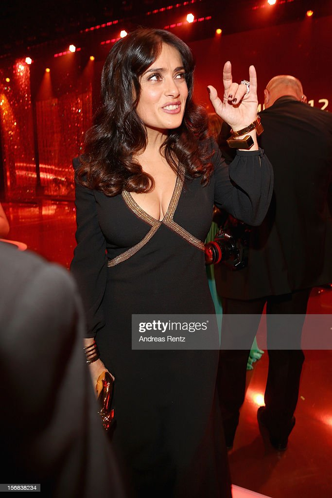 Salma Hayek attends 'BAMBI Awards 2012' at the Stadthalle Duesseldorf on November 22, 2012 in Duesseldorf, Germany.
