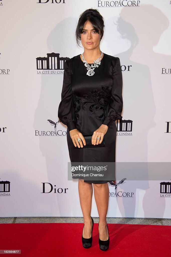 Salma Hayek attends 'La Cite Du Cinema' Launch on September 21, 2012 in Saint-Denis, France.