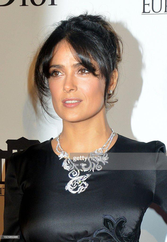 Salma Hayek attends 'La Cite Du Cinema' Launch - Red Carpet at Saint Denis on September 21, 2012 in Paris, France.