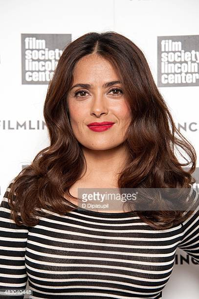 Salma Hayek attends the 2015 Film Society of Lincoln Center Summer Talks with Salma Hayek at Elinor Bunin Munroe Film Center on August 5 2015 in New...
