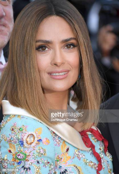 Salma Hayek attends the 70th Anniversary screening during the 70th annual Cannes Film Festival at Palais des Festivals on May 23 2017 in Cannes France