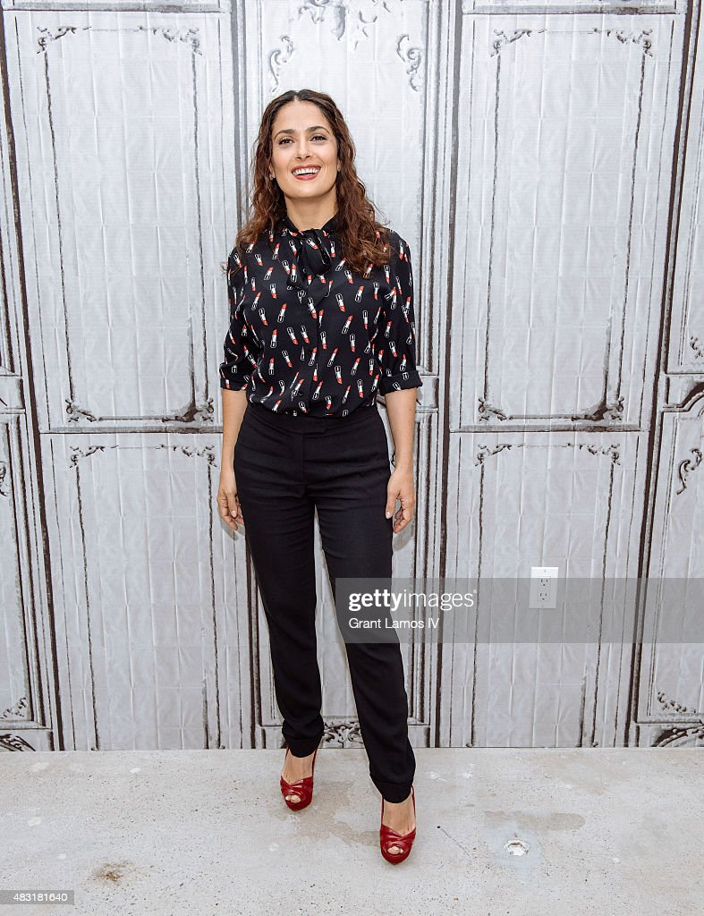 <a gi-track='captionPersonalityLinkClicked' href=/galleries/search?phrase=Salma+Hayek&family=editorial&specificpeople=201844 ng-click='$event.stopPropagation()'>Salma Hayek</a> attends the AOL BUILD Speaker Series: 'Kahlil Gibran's The Prophet' at AOL Studios In New York on August 6, 2015 in New York City.