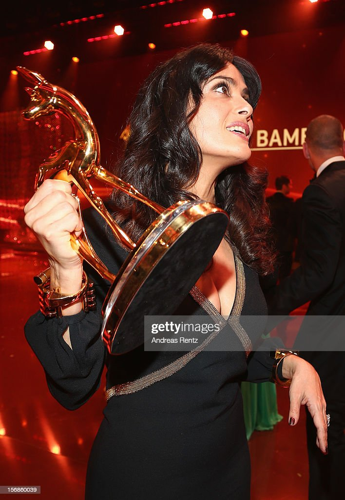 Salma Hayek attends the 'BAMBI Awards 2012' show at the Stadthalle Duesseldorf on November 22, 2012 in Duesseldorf, Germany.
