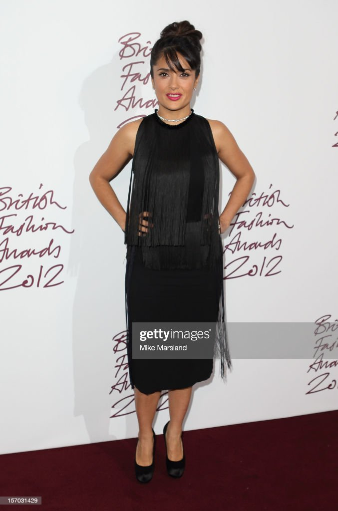 Salma Hayek attends the British Fashion Awards 2012 at The Savoy Hotel on November 27, 2012 in London, England.