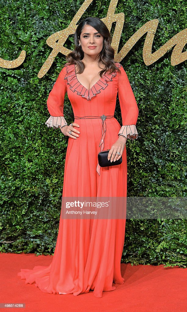 <a gi-track='captionPersonalityLinkClicked' href=/galleries/search?phrase=Salma+Hayek&family=editorial&specificpeople=201844 ng-click='$event.stopPropagation()'>Salma Hayek</a> attends the British Fashion Awards 2015 at London Coliseum on November 23, 2015 in London, England.