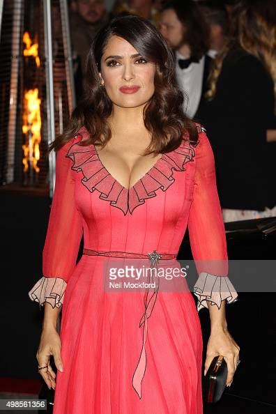 Salma Hayek attends the British Fashion Awards 2015 at London Coliseum on November 23 2015 in London England