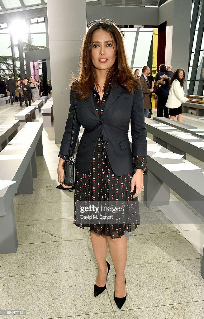 <a gi-track='captionPersonalityLinkClicked' href=/galleries/search?phrase=Salma+Hayek&family=editorial&specificpeople=201844 ng-click='$event.stopPropagation()'>Salma Hayek</a> attends the Christopher Kane show during London Fashion Week SS16 at Sky Garden on September 21, 2015 in London, England.