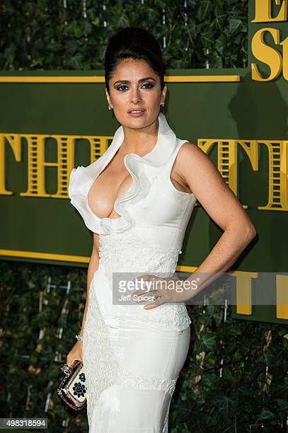Salma Hayek attends the Evening Standard Theatre Awards at The Old Vic Theatre on November 22 2015 in London England