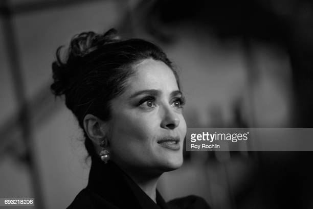 Salma Hayek attends the Gucci The Cinema Society host a screening of roadside attractions 'Beatriz At Dinner' at Metrograph on June 6 2017 in New...