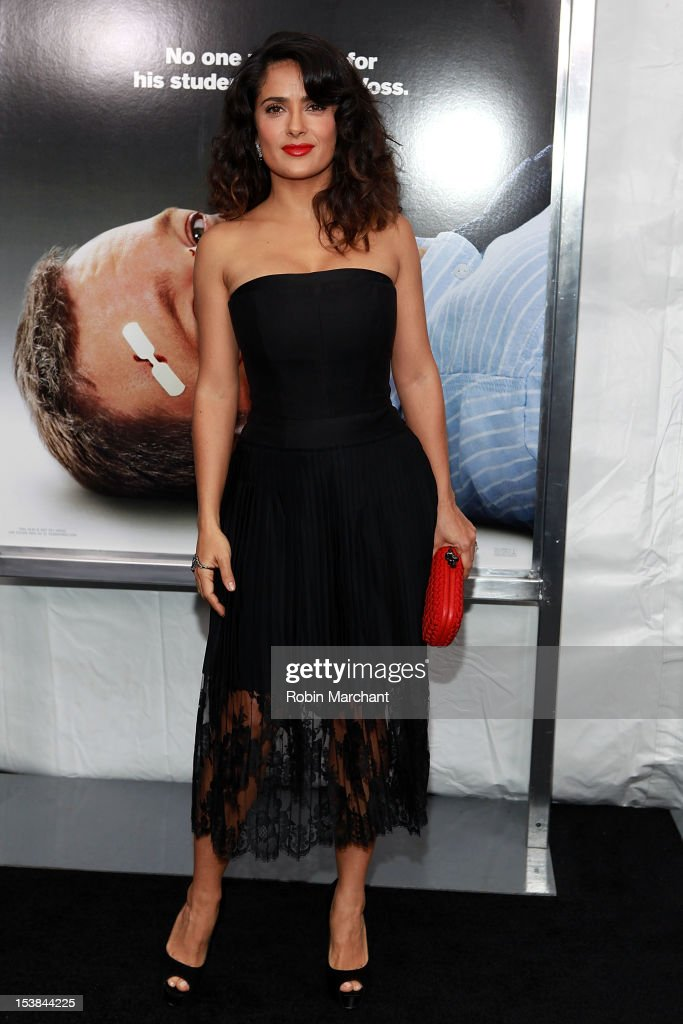 <a gi-track='captionPersonalityLinkClicked' href=/galleries/search?phrase=Salma+Hayek&family=editorial&specificpeople=201844 ng-click='$event.stopPropagation()'>Salma Hayek</a> attends the Here Comes The Boom Premiere at AMC Loews Lincoln Square on October 9, 2012 in New York City.