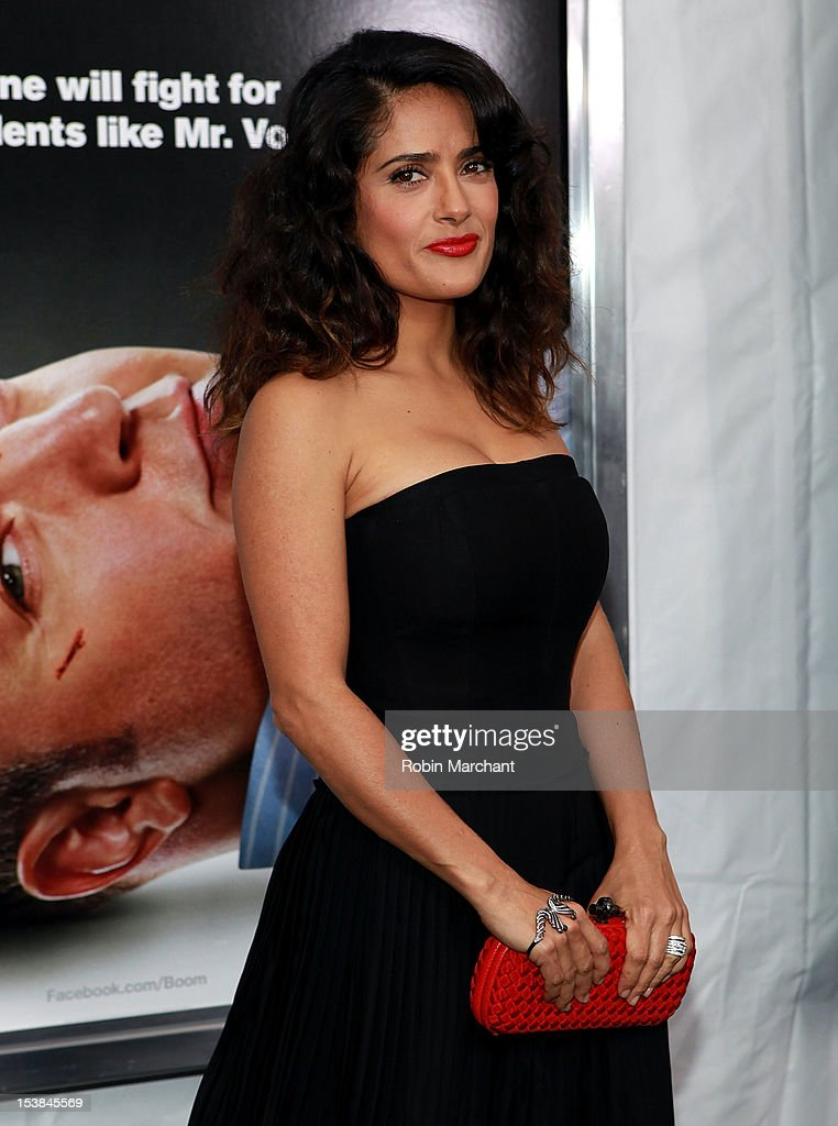 <a gi-track='captionPersonalityLinkClicked' href=/galleries/search?phrase=Salma+Hayek&family=editorial&specificpeople=201844 ng-click='$event.stopPropagation()'>Salma Hayek</a> attends the 'Here Comes The Boom' premiere at AMC Loews Lincoln Square on October 9, 2012 in New York City.