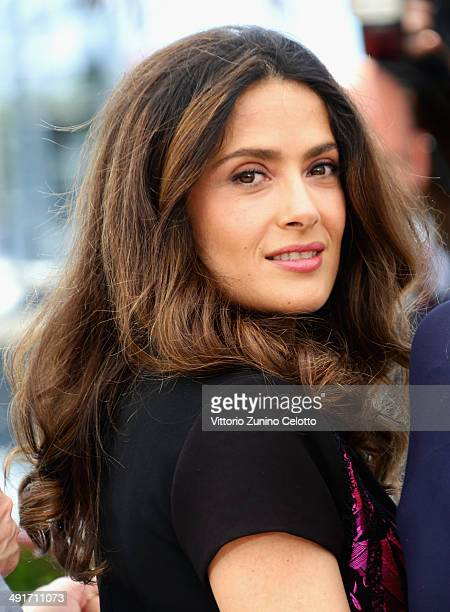 Salma Hayek attends the 'Hommage Au Cinema D'Animation' Photocall at the 67th Annual Cannes Film Festival on May 17 2014 in Cannes France