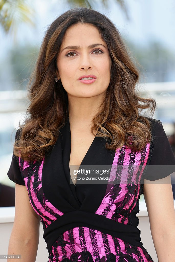 Salma Hayek attends the 'Hommage Au Cinema D'Animation' Photocall at the 67th Annual Cannes Film Festival on May 17, 2014 in Cannes, France.