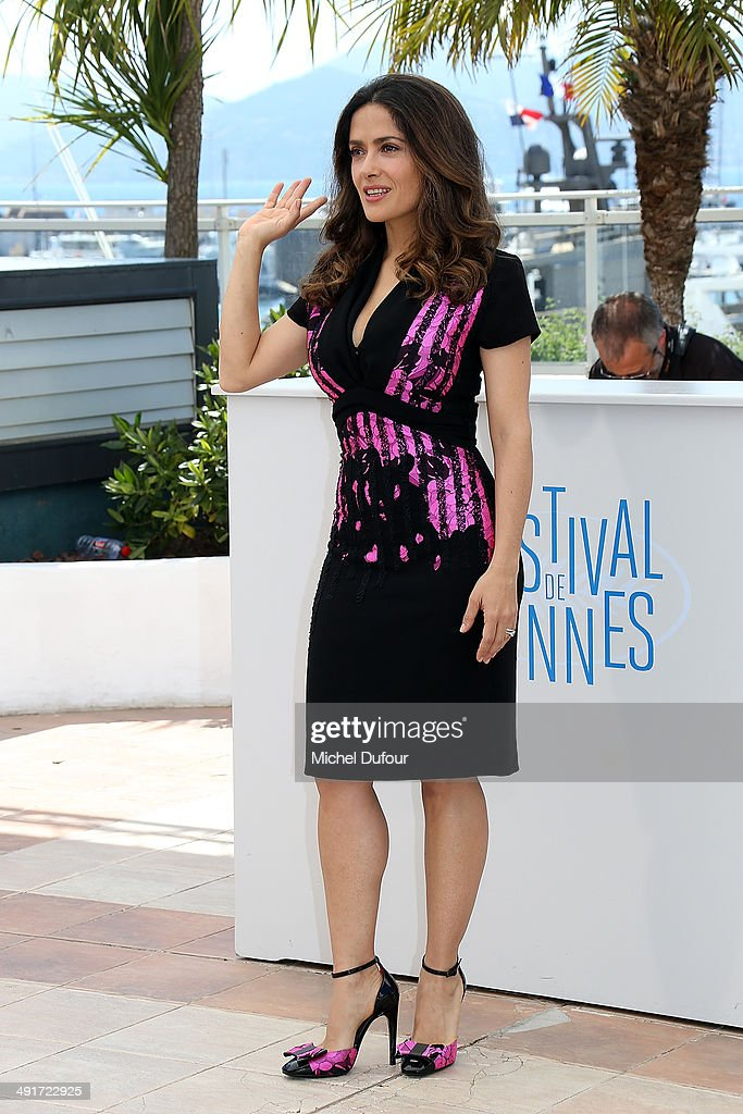 <a gi-track='captionPersonalityLinkClicked' href=/galleries/search?phrase=Salma+Hayek&family=editorial&specificpeople=201844 ng-click='$event.stopPropagation()'>Salma Hayek</a> attends the 'Hommage Au Cinema D'Animation' photocall at the 67th Annual Cannes Film Festival on May 17, 2014 in Cannes, France.