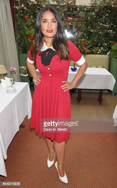 Salma Hayek attends the mothers2mothers Host Committee Breakfast at Mark's Club on September 7 2017 in London England