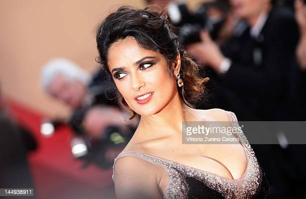 Salma Hayek attends the 'Once Upon A Time' Premiere during 65th Annual Cannes Film Festival during at Palais des Festivals on May 18 2012 in Cannes...