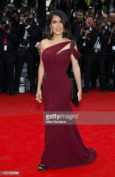 Salma Hayek attends the Opening Night Premiere of 'Robin Hood' at the Palais des Festivals during the 63rd Annual International Cannes Film Festival...