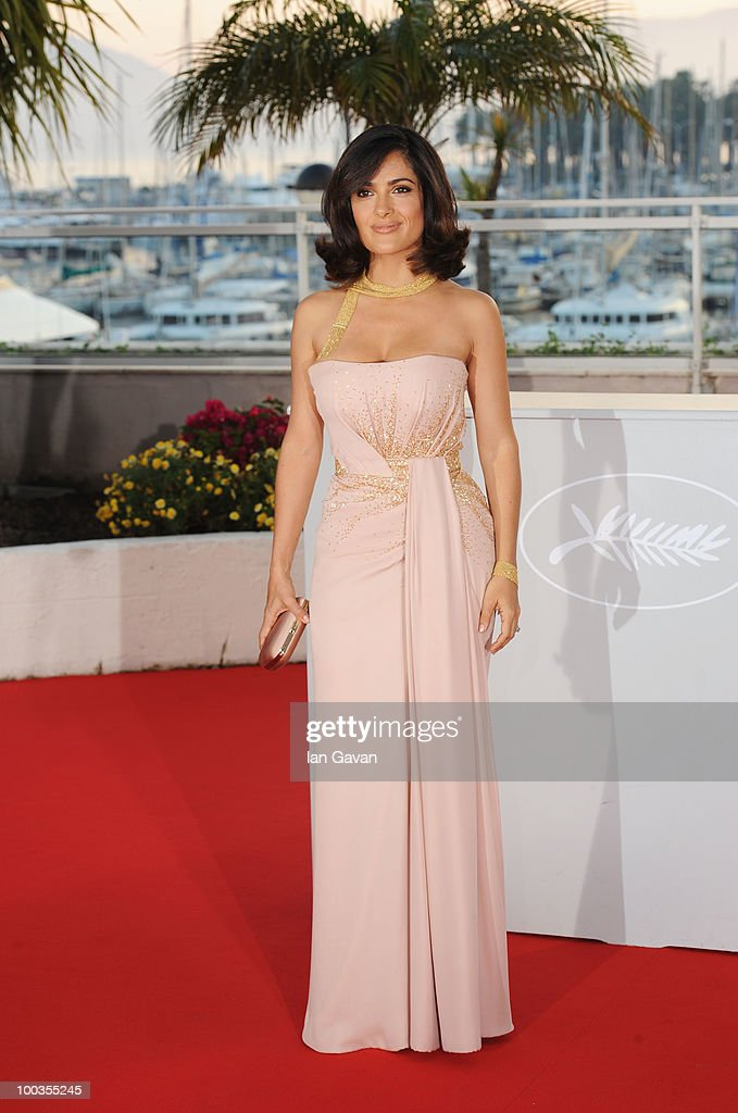 Salma Hayek attends the Palme d'Or Award Photocall held at the Palais des Festivals during the 63rd Annual Cannes Film Festival on May 23, 2010 in Cannes, France.