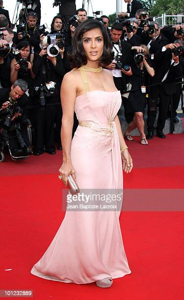Salma Hayek attends the Palme d'Or Closing Ceremony held at the Palais des Festivals during the 63rd Annual International Cannes Film Festival on May...