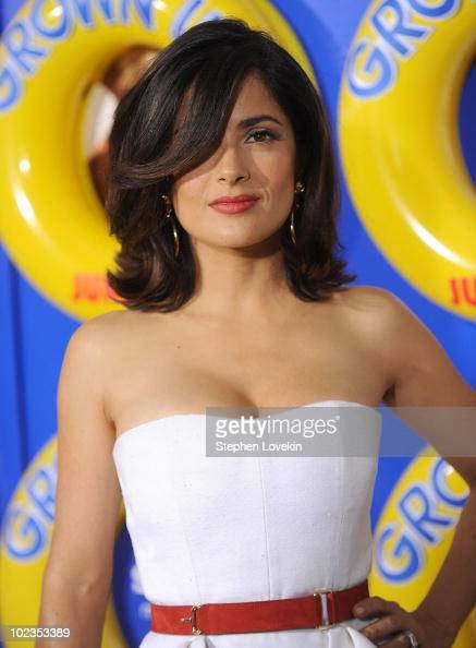 Salma Hayek attends the premiere of 'Grown Ups' at the Ziegfeld Theatre on June 23 2010 in New York City