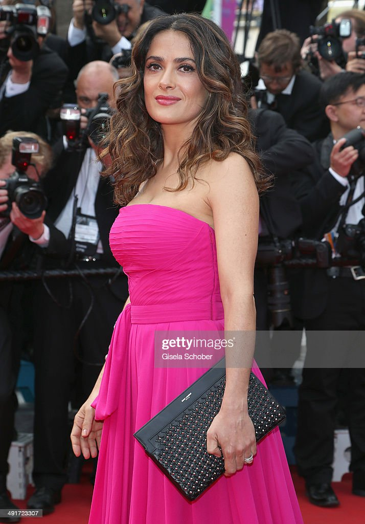 <a gi-track='captionPersonalityLinkClicked' href=/galleries/search?phrase=Salma+Hayek&family=editorial&specificpeople=201844 ng-click='$event.stopPropagation()'>Salma Hayek</a> attends 'The Prophet' premiere during the 67th Annual Cannes Film Festival on May 17, 2014 in Cannes, France.