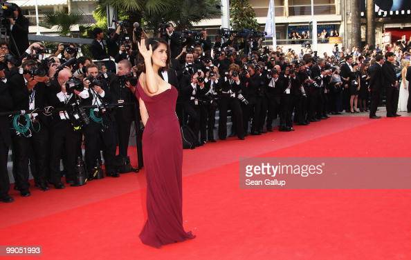 Salma Hayek attends the 'Robin Hood' Premiere at the Palais des Festivals during the 63rd Annual Cannes Film Festival on May 12 2010 in Cannes France