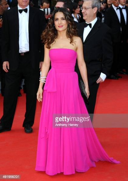 Salma Hayek attends the 'Saint Laurent' premiere at the 67th Annual Cannes Film Festival on May 17 2014 in Cannes France