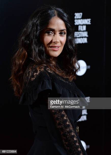 Salma Hayek attends the screening of 'Miguel Arteta's Beatriz At Dinner' at Mayfiar Hotel on June 1 2017 in London England